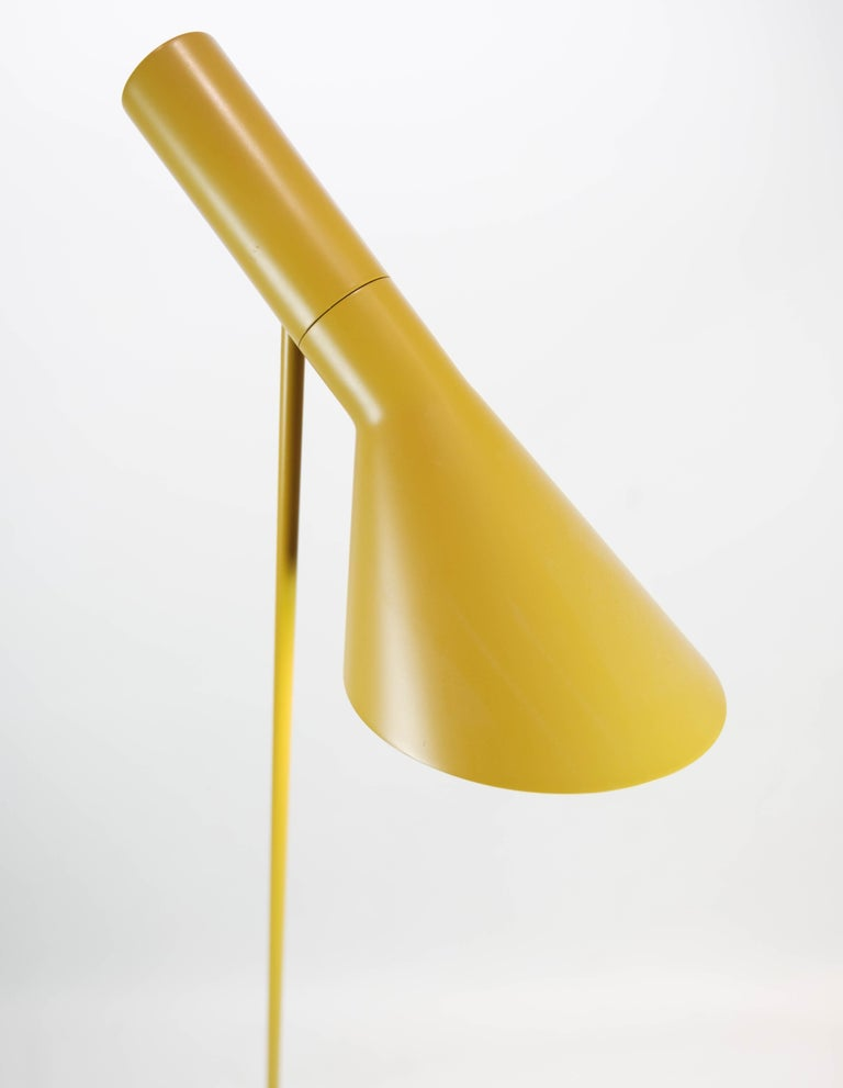 Danish Yellow Floor Lamp Designed by Arne Jacobsen and Manufactured by Louis Poulsen For Sale