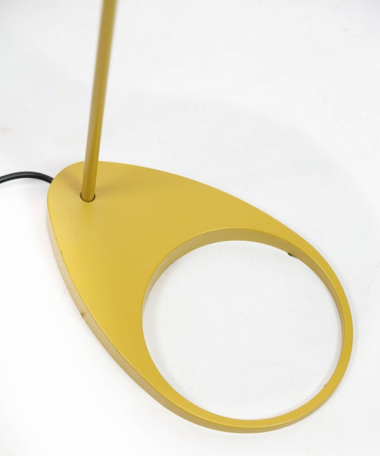 Lacquered Yellow Floor Lamp Designed by Arne Jacobsen and Manufactured by Louis Poulsen For Sale