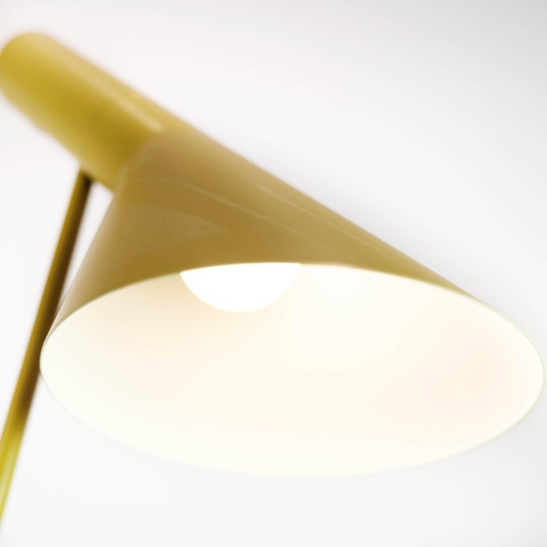 Yellow Floor Lamp Designed by Arne Jacobsen and Manufactured by Louis Poulsen In Good Condition For Sale In Lejre, DK