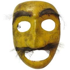 Yellow Folk Art Mask