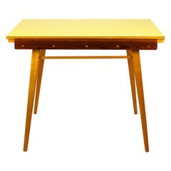 Yellow Formica Folding Dining Table, 1960s