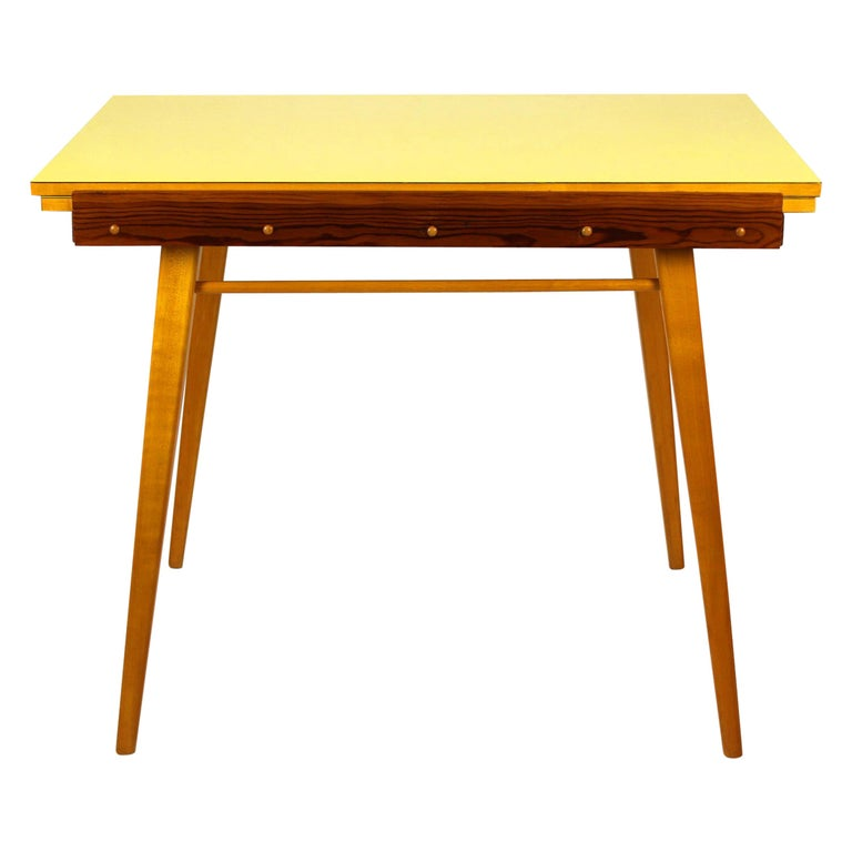 Yellow Formica Folding Dining Table, 1960s For Sale At 1stdibs