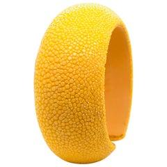 Yellow Galuchat Cuff Bracelet