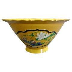 Yellow Glazed Porcelain Bowl