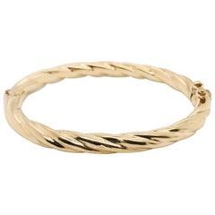 Yellow Gold 18 Karat Bangle Bracelet