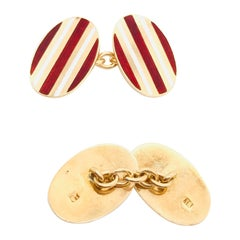 Yellow Gold 18 Karat Cufflinks, 1950s