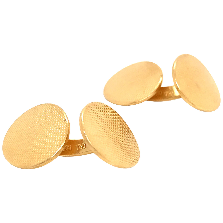 Yellow Gold 18 Karat Cufflinks