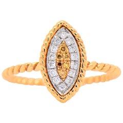 Yellow Gold 18 Karat Diamond and Natural Fancy Yellow Diamonds