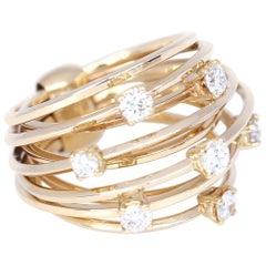 Yellow Gold 18 Karat Diamonds Ring