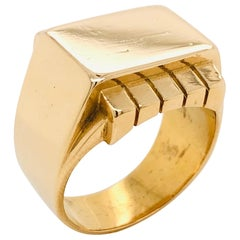 Yellow Gold 18 Karat Signet Ring