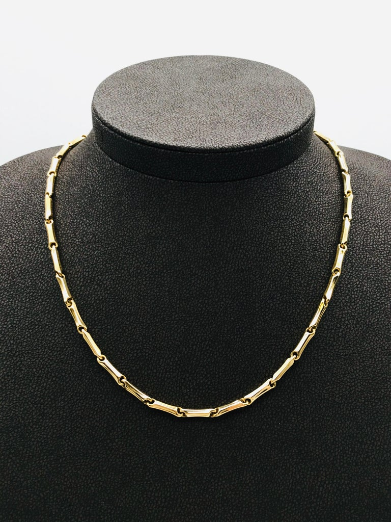 Yellow Gold 18k Link Necklace Length 50 cm  Weigth of Gold 10.3 grams
