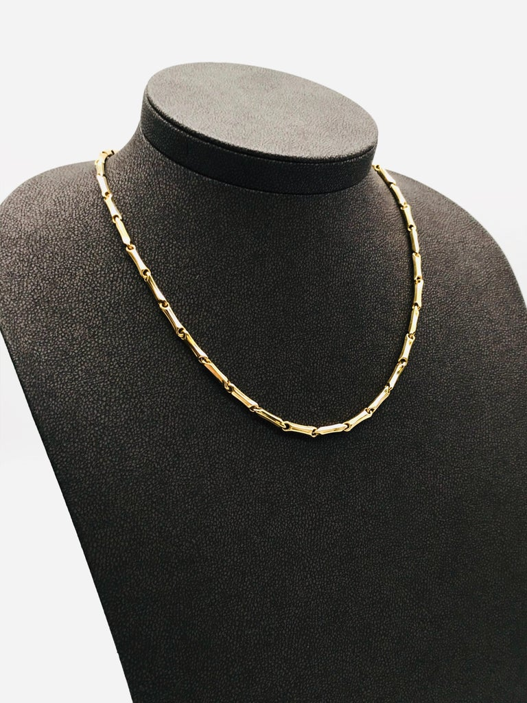 Artisan Yellow Gold 18 Karat Link Necklace