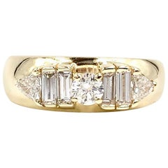 Yellow Gold and Diamond Band Ring