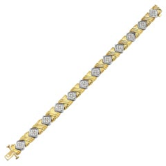 Yellow Gold and Diamond Bracelet