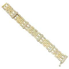Yellow Gold and Diamond Men's Bracelet
