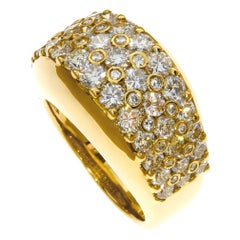 Chatila Diamond and Yellow Gold Ring
