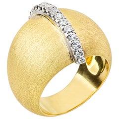 AnaKatarina Yellow Gold and Diamond Talisman Ring