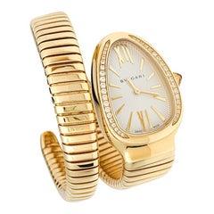 "Yellow Gold and Diamonds Bulgari Watch, ""Serpenti"" Collection"