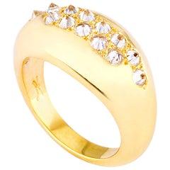 AnaKatarina Yellow Gold and Diamonds Stacking Ring