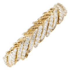 Yellow Gold Baguette Diamond Bracelet