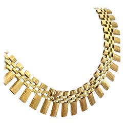 Yellow Gold Bars Necklace, Original Vintage Model from the 1960s