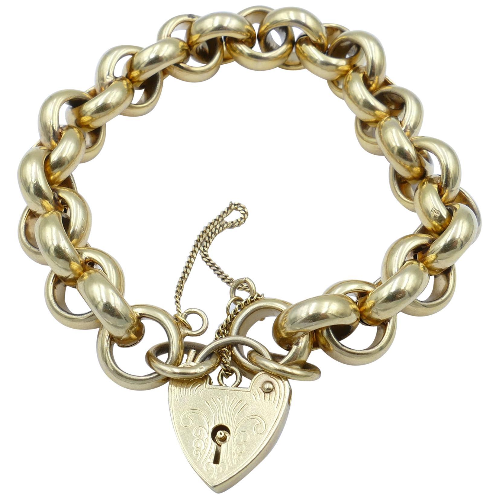 Yellow Gold Belcher Link Bracelet