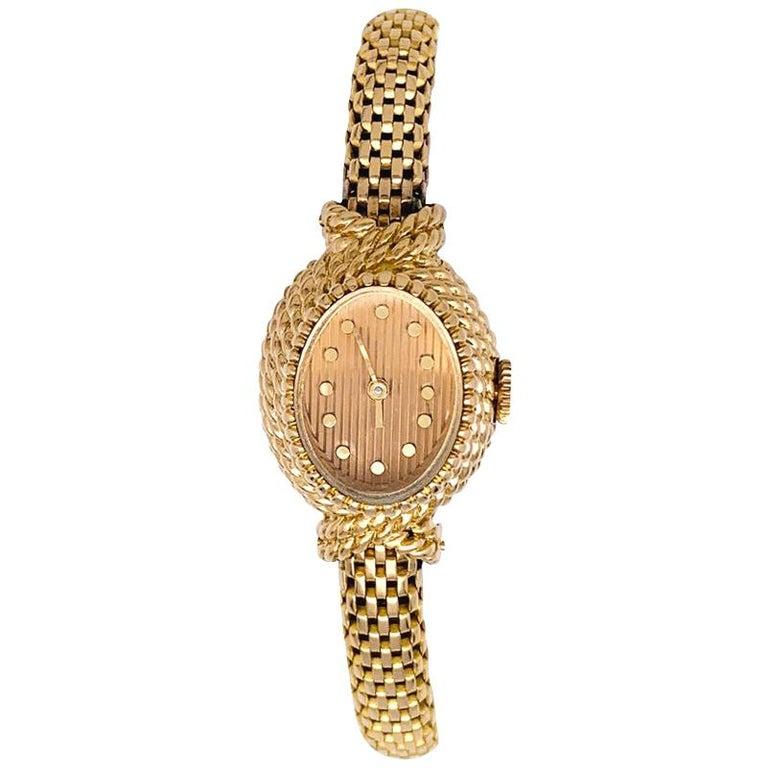 YBoucheron ellow Gold  1960s Ladies Watch For Sale