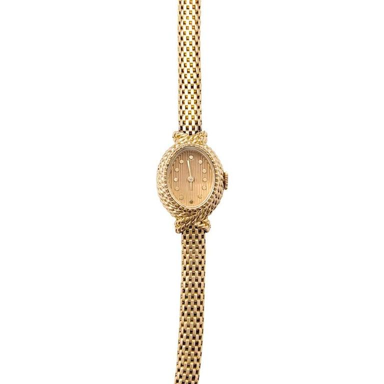 Post-War YBoucheron ellow Gold  1960s Ladies Watch For Sale