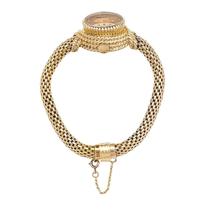 Women's YBoucheron ellow Gold  1960s Ladies Watch For Sale