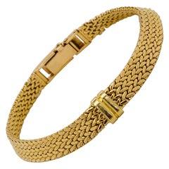 Yellow Gold Bracelet 18 Karat Mesh Braided