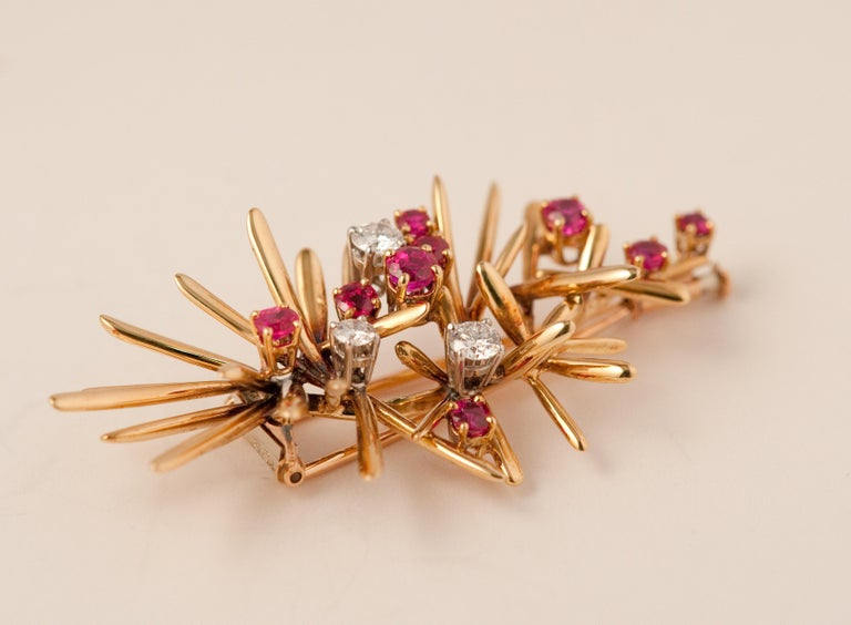 Yellow Gold Brooche For Sale 2