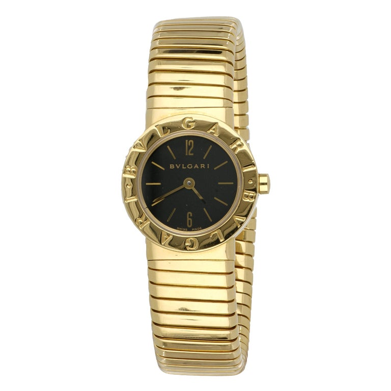 Yellow Gold Bulgari Tubogas Ladies Watch For Sale