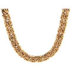 Yellow Gold Byzantine Necklace