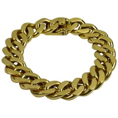 Yellow Gold Curb Link Chain Bracelet