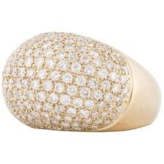 Yellow Gold Diamond Dome Ring