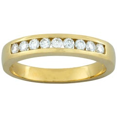 Yellow Gold Diamond Half Eternity Ring