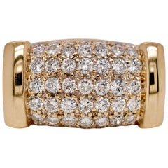 Yellow Gold Diamond Pavé Band