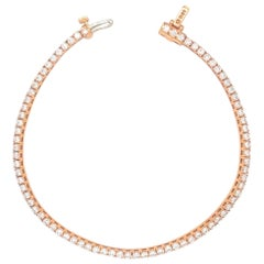 Yellow Gold Diamond Tennis/Line Bracelet