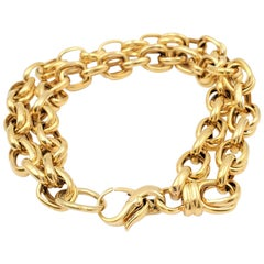 Yellow Gold Double Link Bracelet