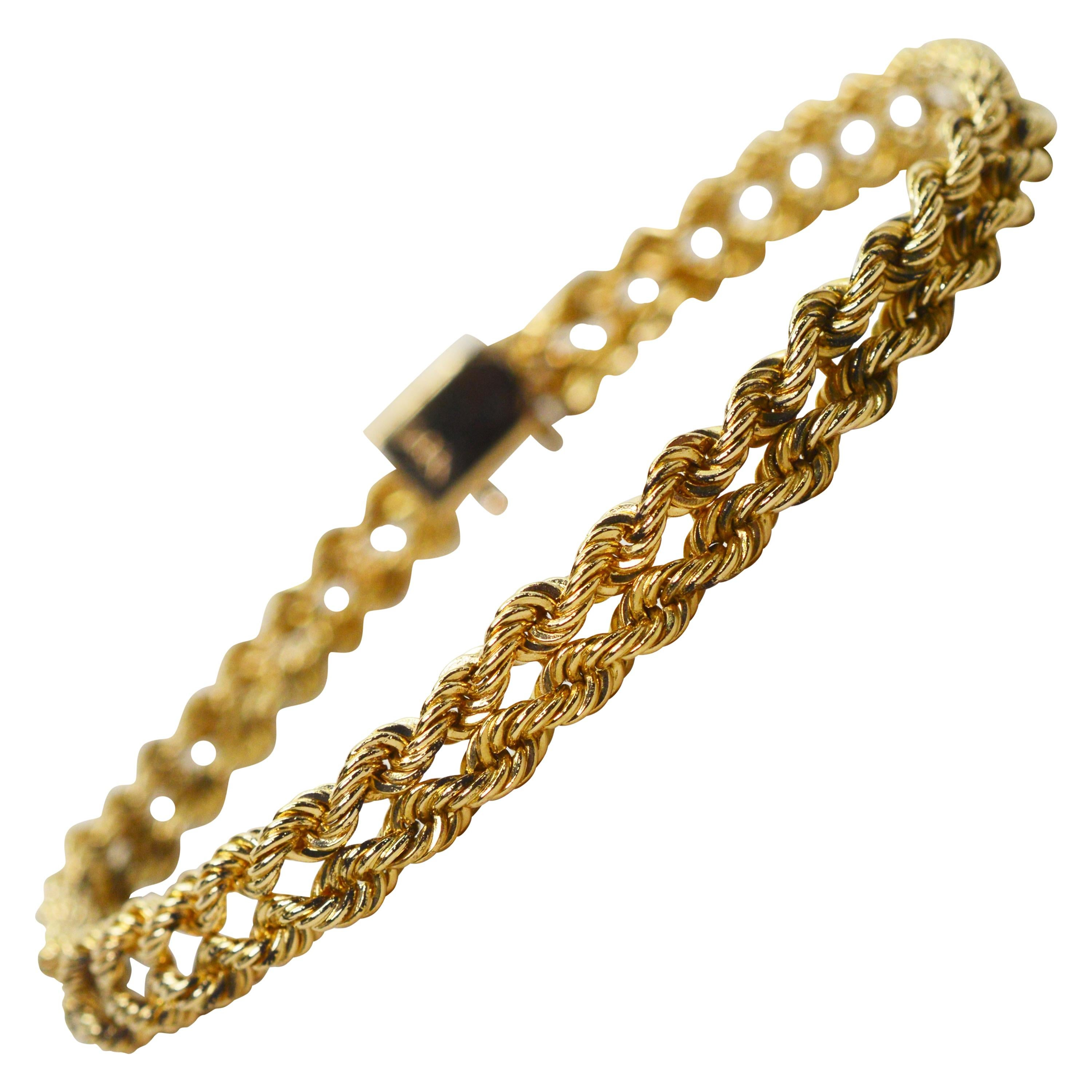 Yellow Gold Double Rope Bracelet