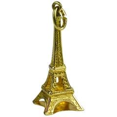 Yellow Gold Eiffel Tower Charm