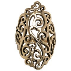 Yellow Gold Fancy Filigree Cocktail Ring
