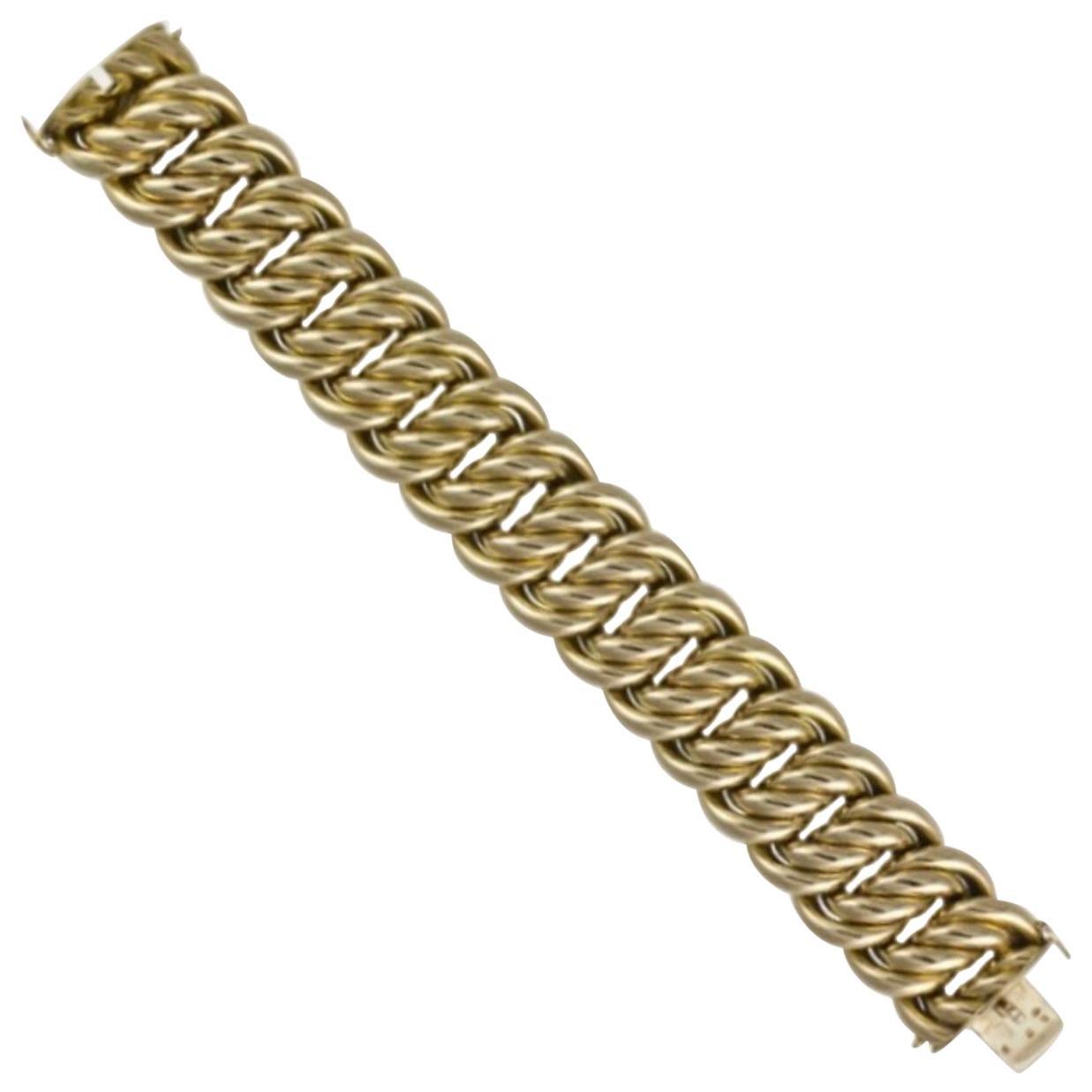 Yellow Gold Fancy Link Bracelet