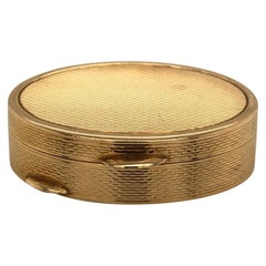 French Oval 18 Karat Yellow Gold Pill Box