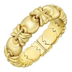 Yellow Gold Geometric Cuff Bracelet