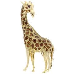 Yellow Gold Giraffe Brooch
