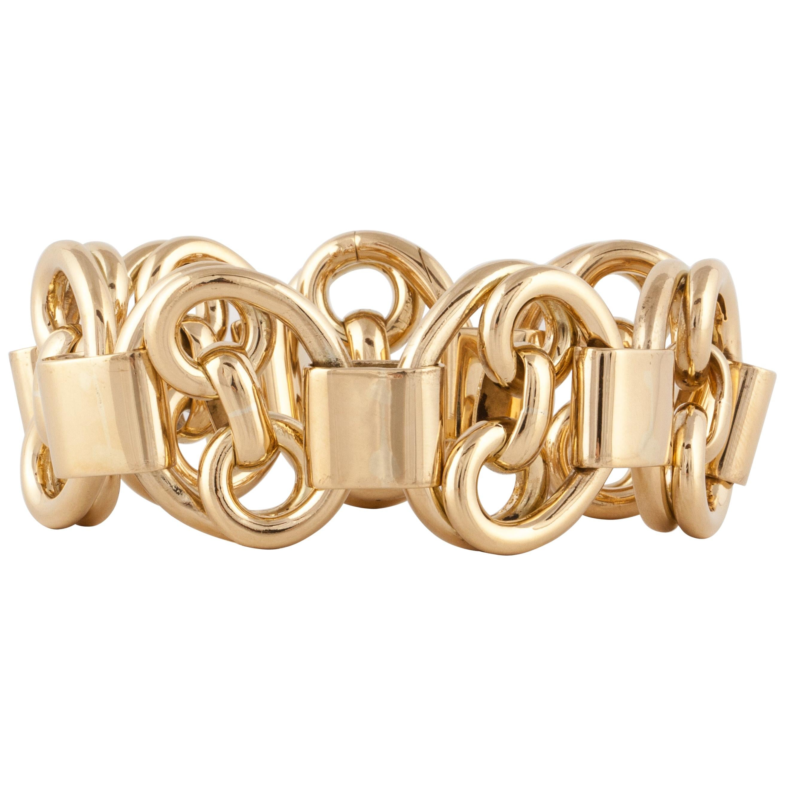 Yellow Gold Heavy Link Bracelet