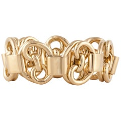 Yellow Gold Heavy Link Bracelet