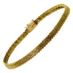 Yellow Gold Herringbone Bracelet