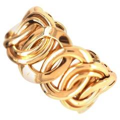 Yellow Gold Italian Cuff Bracelet